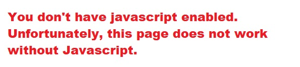 No Javascript activated!